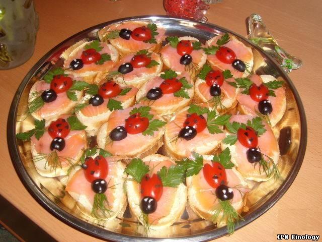 Фото-украшения салатов, бутербродов